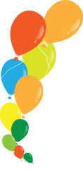 vector multicolored balloons on white background