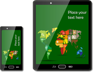Smart phones with maps