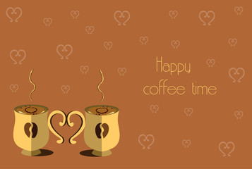 Happy coffee time