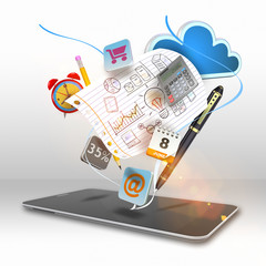Smart phone media