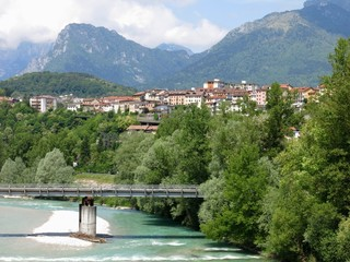 Belluno Bridge River Italy