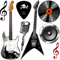 Instruments music set