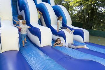 Children on the trampoline