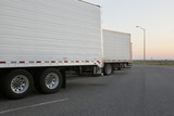 Sunrise at a truck stop - 68258010