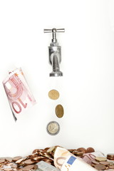 Geldfluss Symbol