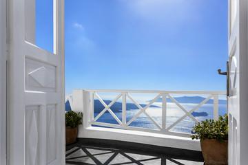 Balcony above the sea