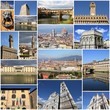 Italy - Florence. Photo collage.
