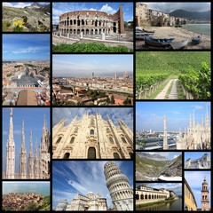 Italy photos - collage