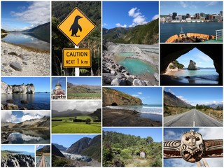 New Zealand photos - image collage