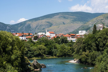 Mostar city view, Bosnia and Herzegovina