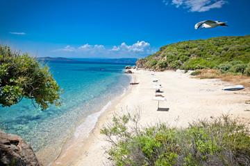 Beautiful Ouranoupolis beach on Athos, Greece.