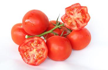 frische Tomaten mit Sternmuster dekoriert