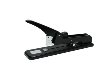 Single heavy stapler on white background, clipping path included