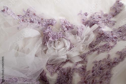 canvas print picture Particolare dell'abito della sposa