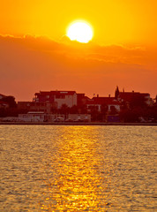 Bibinje village in Dalmatia golden sunset