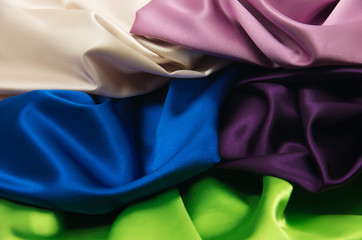 multi-colored satin