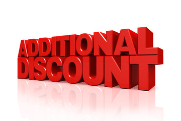 3D red text additional discount