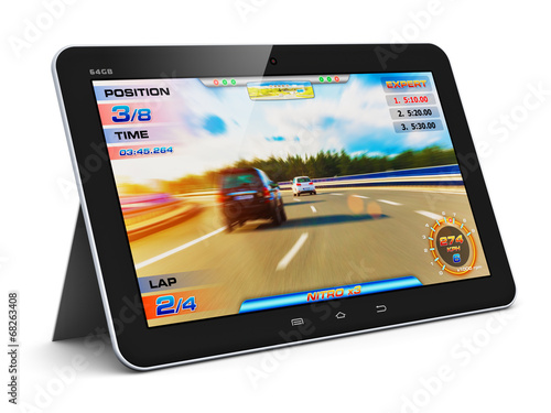 Tablet computer with video game - 68263408