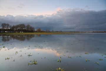 Port Meadow flood plain in Oxford.