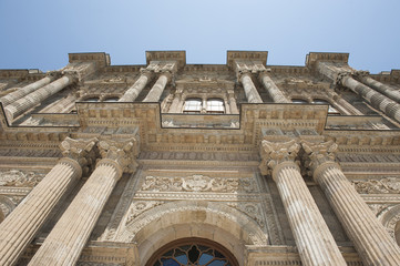 Ottoman architecture of Dolmabahce Palace Istanbul