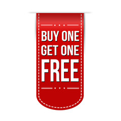 Buy One Get One Free banner design