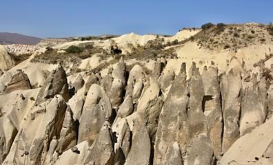 Typical rock formation in Cappadocia, Turkey