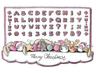 alphabet for christmas time