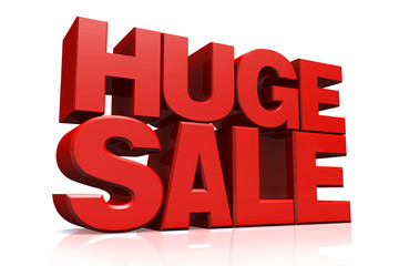 3D red text huge sale