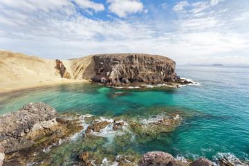 anzarote El Papagayo Playa Beach in Canary Islands