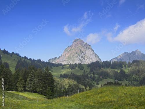 canvas print picture Mythen, Berg in der Schweiz