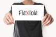 Flexible. female showing card