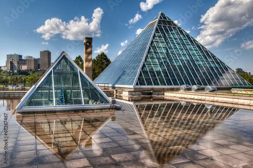 Aluminium Tuin Glass Pyramids in Edmonton, Alberta, Canada