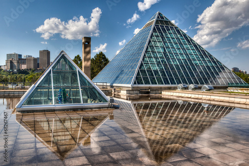 Staande foto Tuin Glass Pyramids in Edmonton, Alberta, Canada