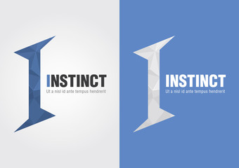 I Instinct icon from an alphabet. Business creative marketing.