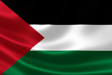 Close Up of Palestinian Flag