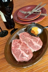 Beef Flat Iron Steak Red Wine