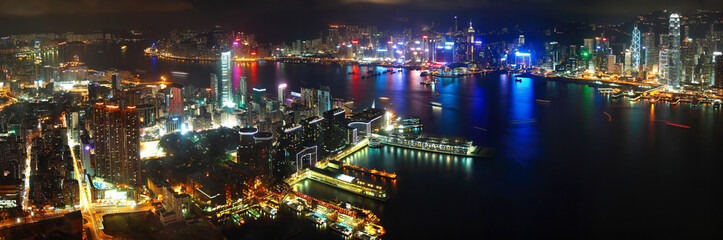 hong kong harbour night view