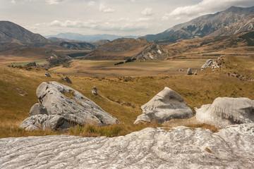 rock boulders at Castle Hill, New Zealand