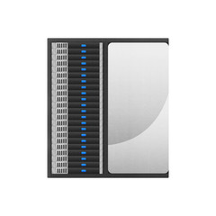 super computer is network server for storage data and fast proce