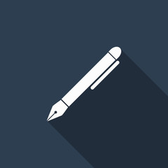 pen icon with long shadow
