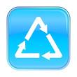 Isolated blue web icon on white background