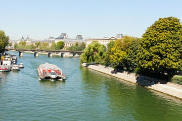 Seine river in Paris, France.