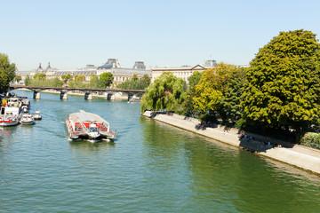 Seine river in Paris, France.