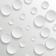 White circles on white background - vector illustration