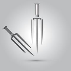 Illustration of ninja weapon, cartoon vector
