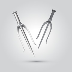 Illustration of ninja weapon, cartoon vector