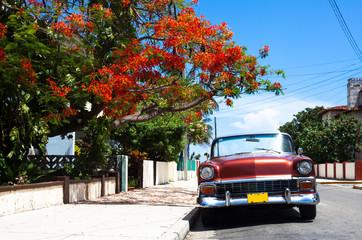Kuba amerikanischer Oldtimer in Havanna