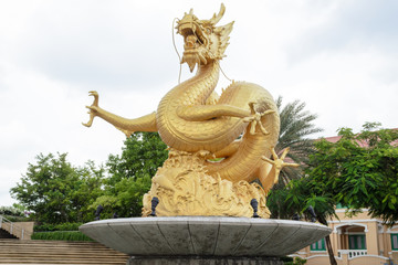 Golden dragon statue, Phuket