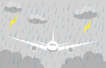 飛行機 悪天候