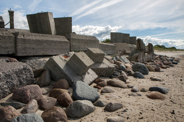concrete ingots and stones